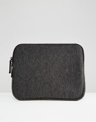 Asos Ipad Case In Jersey Charcoal Grey