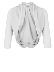 Jacques Vert Chiffon Bolero Light Grey
