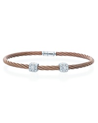 Charriol Rose Square Station Classique Stackable Bangle