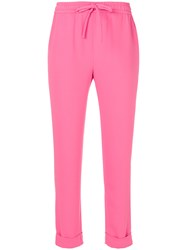 P.A.R.O.S.H. Cuffed Joggers Polyester Pink Purple