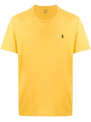 Ralph Lauren Logo Embroidered T Shirt Yellow