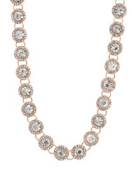 Anne Klein Crystal Collared Necklace Rose Gold