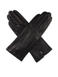 Dents Ladies Leather Glove With Silk Lining Black