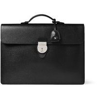 Gucci Textured Leather Briefcase Black