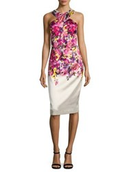 David Meister Mikado Print Dress Pink Multi