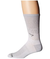 Drymax Sport Thin Run Crew 3 Pack Gray White Crew Cut Socks Shoes
