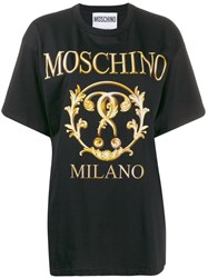 Moschino Oversized Logo T Shirt Black