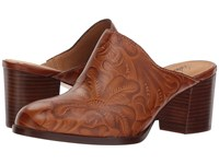 Patricia Nash Nicia Whiskey Tooled Clog Shoes Brown