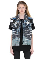 Patricia Field Art Fashion Tom Tom Madonna Studded Denim Vest