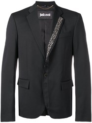 Just Cavalli Stud Detail Fitted Blazer Black