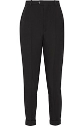 Isabel Marant Jo Wool Tapered Pants Black