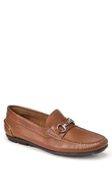 Sandro Moscoloni Men's Marco Moc Toe Loafer Tan Leather