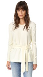 Madewell Tie Front Wrap Sweater Bright Ivory