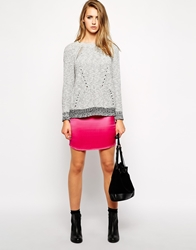 Zadig And Voltaire Zadig And Voltaire Silk Slip Skirt With Raw Hem Fushia
