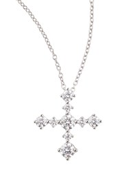Anniversary Collection Diamond Cross Pendant Necklace E Vs1 0.62 Tcw Forevermark Red