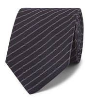 Berluti 6.5Cm Striped Wool And Silk Blend Tie Midnight Blue