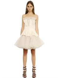 Christopher Kane Strapless Tulle Godet Dress