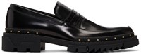 Versace Black Studded Loafers
