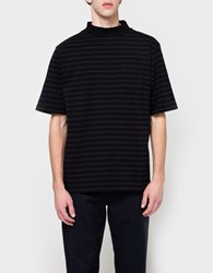 Sacai Dixie Border T Shirt Black X Navy