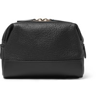 Globe Trotter Grained Leather Wash Bag Black