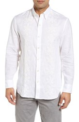 Tommy Bahama Men's Big And Tall White Night Linen Sport Shirt