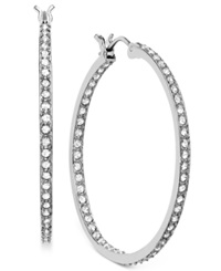 Swarovski Earring Rhodium Plated Crystal Somerset Hoop Earrings