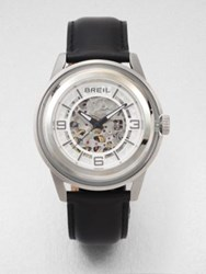 Breil Milano Automatic Stainless Steel And Glass Watch Black