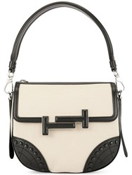 Tod's Double T Shoulder Bag Neutrals