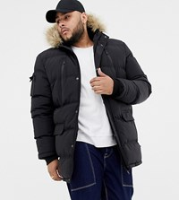 Good For Nothing Parka Coat In Black Exclusive To Asos
