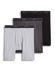 Jockey Essential Fit Midway Brief Pack Of Three Grey Assorted
