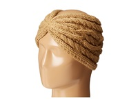 Michael Michael Kors Cable Knit Jersey Twisted Headband Dark Camel Headband Taupe