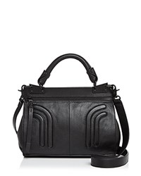 Foley Corinna And Stephi Mini Leather Messenger Black Black