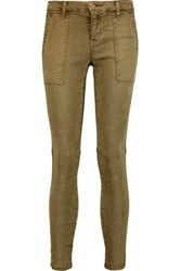 Current Elliott The Station Agent Mid Rise Skinny Jeans Army Green