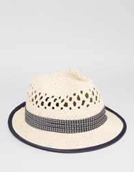 Ted Baker Trilby In Straw Beige