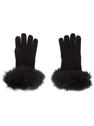 Sofia Cashmere Cuff Detail Gloves Black