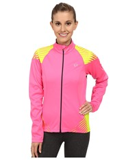 Pearl Izumi W Elite Softshell 180 Cycling Jacket Screaming Pink Screaming Yellow Women's Workout