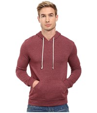 Alternative Apparel Hoodlum Pullover Hoodie Eco True Currant Men's Long Sleeve Pullover Brown