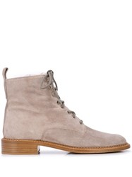 Vince Cabria Suede Ankle Boots Grey