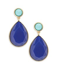 Trina Turk Teardrop Earrings Blue