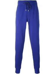 Moncler Gathered Ankle Track Pants Blue