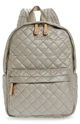 M Z Wallace Mz Small Metro Quilted Oxford Nylon Backpack Beige Atmosphere Metallic