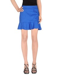 Armani Jeans Skirts Mini Skirts Women Blue