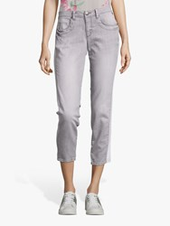 Betty Barclay Cropped Skinny Jeans Light Grey