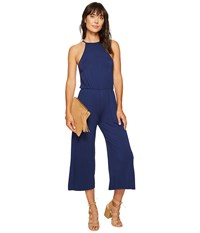 Clayton Marley Crop Jumpsuit Navy Women's Jumpsuit And Rompers One Piece