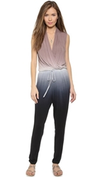 Young Fabulous And Broke Myla Jumpsuit Black Tan Ombre