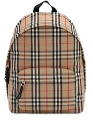 Burberry Jett Check Canvas Backpack Archive Beige