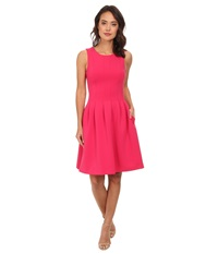 Calvin Klein Fit Flare W Slim Pleat Hibiscus Women's Dress Pink