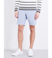 Tommy Hilfiger Brooklyn Striped Classic Fit Cotton Blend Shorts Heather
