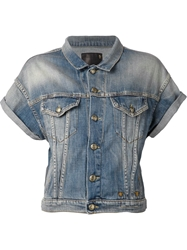 R 13 R13 Short Sleeve Denim Jacket Blue