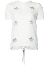 Victoria Beckham Floral Top Women Silk 8 White